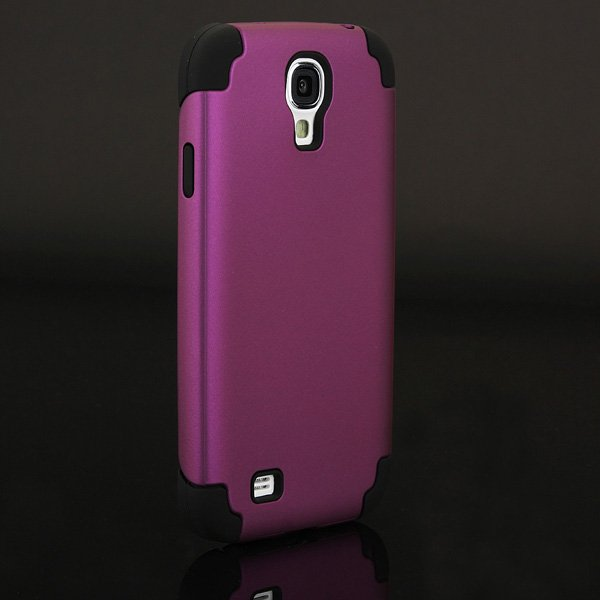 Dual Layer Hybrid Impact Soft Stand Case For Samsung Galaxy S4 i9500