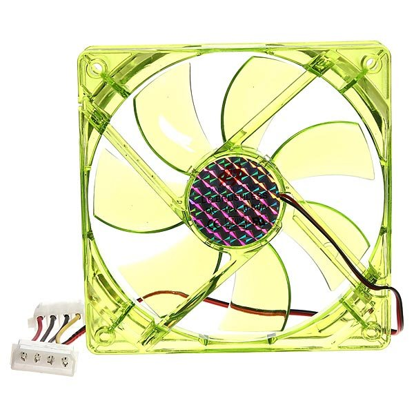 4 Pins 120x120x25mm 12v CPU Cooling Fan PC Computer Green LED Light