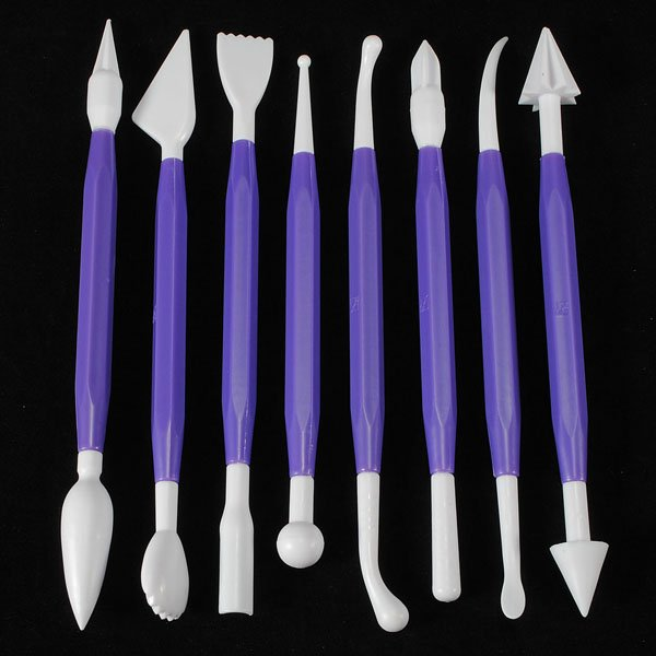 8 pcs Cake Decorating Flower Modelling Carving Tools