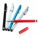 2 in 1 Metal Capacitive Touch Screen Stylus Ink Pen For iPhone iPad