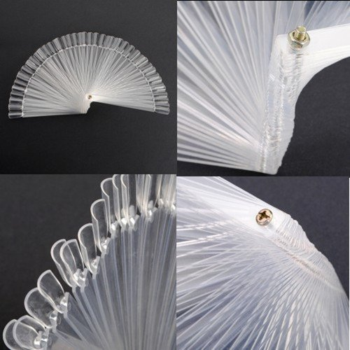 50pcs false 3D nail art Tips stick Display fan board