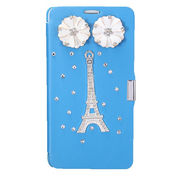 Bling Glitter Diamond Flip Leather Case For Samsung Galaxy Note 4