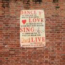 Dance Love Tin Sign Retro Vintage Metal Plaque Bar Pub Wall Decor