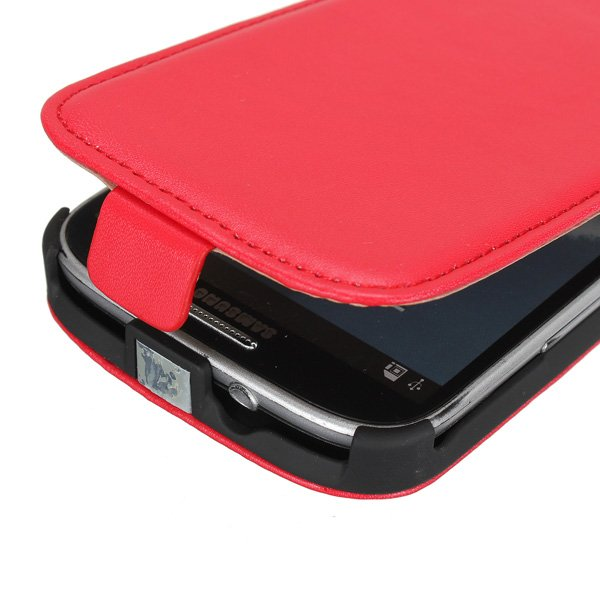 PU Leather Magnetic Flip Pouch Cover for Samsung I9300 GALAXY SIII