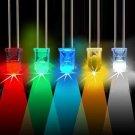 10pcs 5mm 3000-6000mcd LED Bright Decoration Torch Toy Light Blue