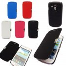 Magnetic PU Leather Hard Back Case For Samsung Galaxy S3 Mini I8190
