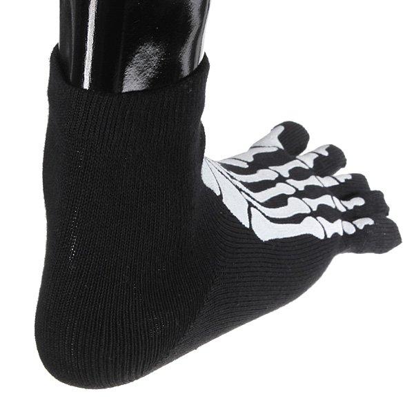 Mens Five Toes Sock Soft Paw Skeleton Novelty Socks