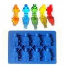 Minifigure Shape Silicone Ice Tray Candy Maker Mold Mould