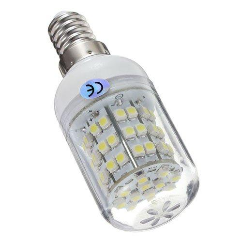 E14 3W Pure White 60 SMD 3528 LED Corn Light Lamp Bulb 220V