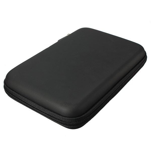 Hard Shell Carry Bag Zipper Pouch for 7Inch Sat Nav GPS