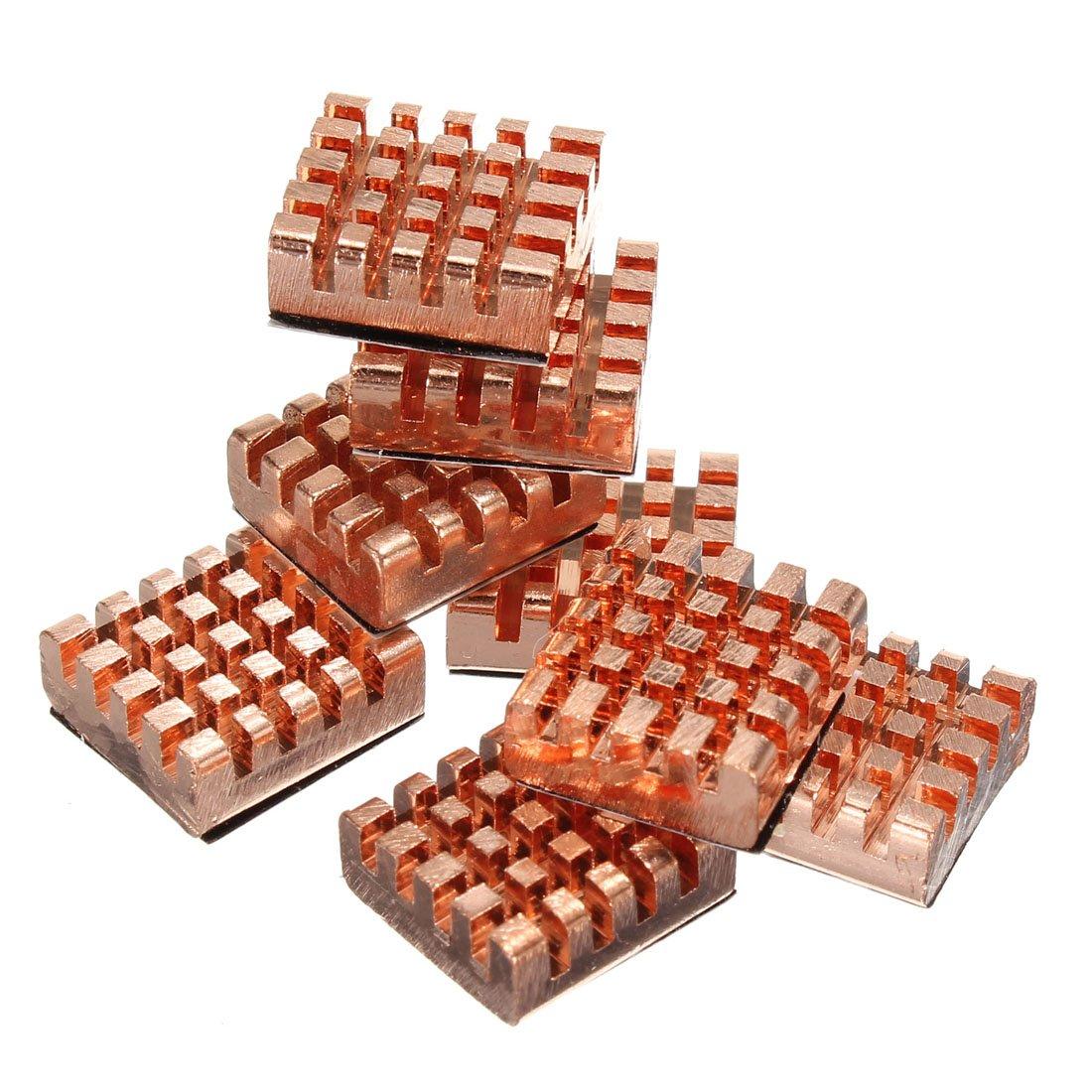 8pcs Memory Copper Heat Sink For DDR DDR2 DDR3 RAM 12x13x5mm