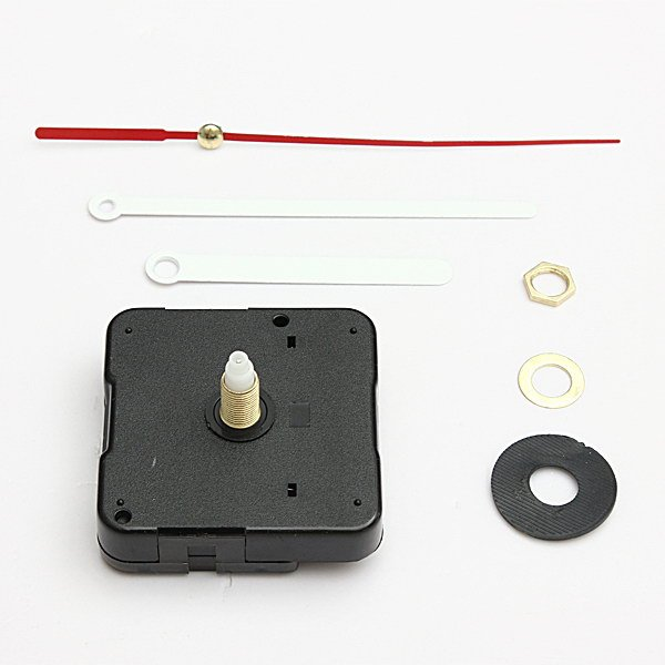 White & Red Hands DIY Quartz Black Wall Clock Movement Repair Parts