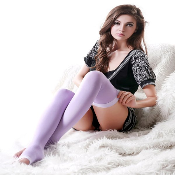 Hot Women's Slim Shaper Sleeping Beauty Leg Burning Fat Thin Socks