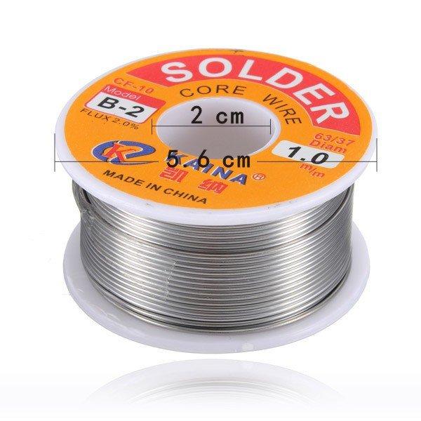 63/37 45FT 1mm Tin Lead Solder Flux Soldering Iron Wire Reel