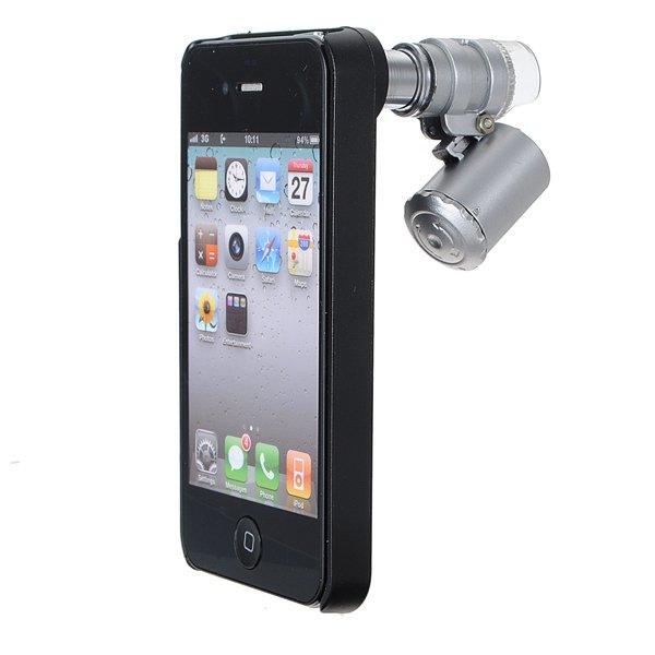 60X Zoom LED Magnifier Loupe Optical Mini Microscope Lens For iPhone 4