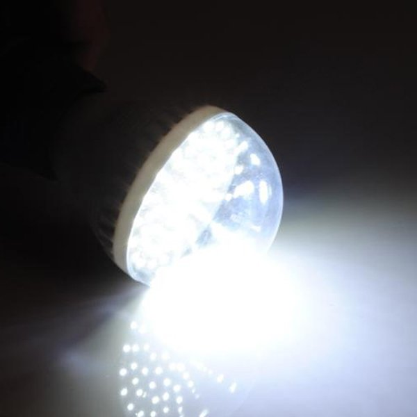 E27 3W Pure White 60 LED Energy Saving Light Bulb 200V-240V