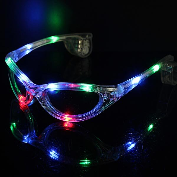 LED Sunglasses Flashing Colorful Glow Sunglasses