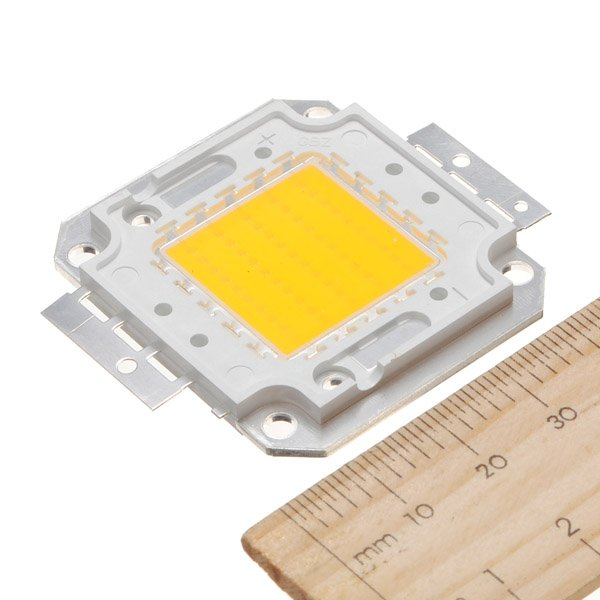 50W 4000LM Pure/Warm White High Bright LED Light Lamp Chip 32-34V