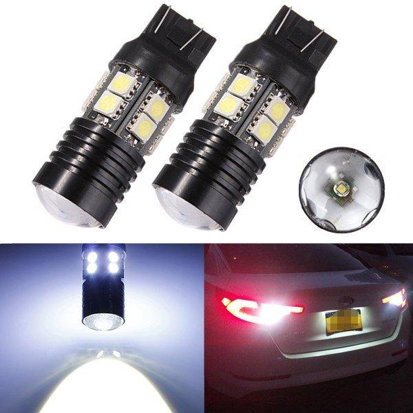 T20 CREE Q5+12 SMD 5050 LED Car Brake Tail Turn Light Bulb