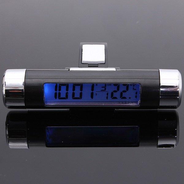 Car Digital LCD Display Temperature Thermometer Monitor Time Clock