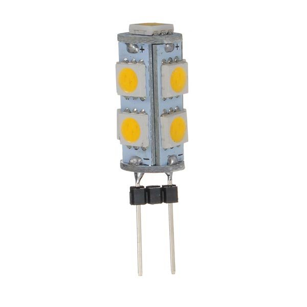 5 X Car G4 9 LED SMD 5050 Warm White light Bulb Lamp 12V