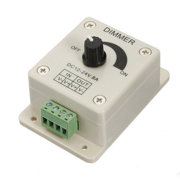LED Light Dimmer Brightness Adjustable Control Controller 12V 8A