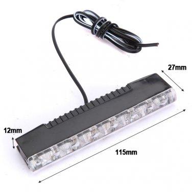 2 Daytime Running DRL Driving 6 SMD LED Fog Light Lamp