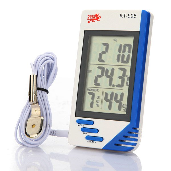 Big Screen Indoor And Outdoor Temperature Hygrometer KT-908