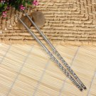 10 Pairs Stylish Stainless Steel Chopsticks