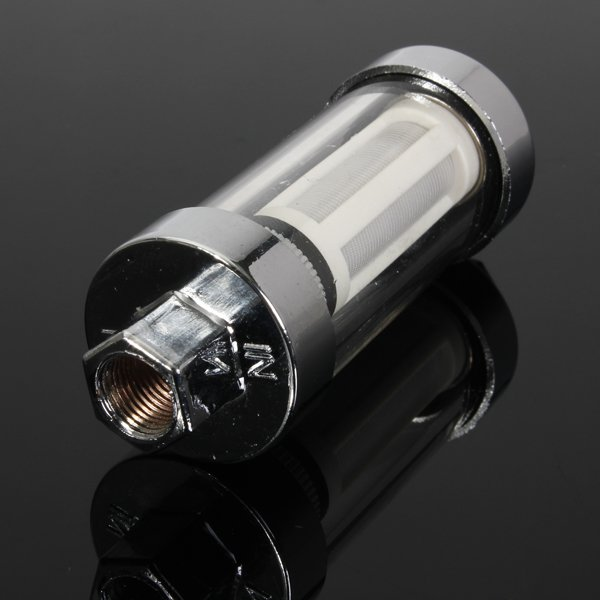 6MM 8MM 10MM Universal Car Inline Fuel Filter Petrol And Diesel Chrome