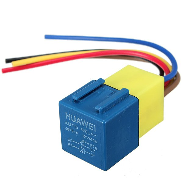 Automotive Relay with Wiring Harness and Socket 12Volt 30A 40A