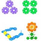 128 Pcs Multicolor Snowflake Building Kid Educational Baby Toy Puzzle
