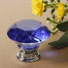 40mm Diamond Crystal Doorknob Drawer Cabinet Handle Knob Screw