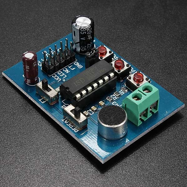 ISD1820 Voice Sound Board Recording Recorder Playback Module On-board Microphone