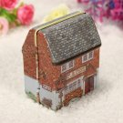 1Pc Mini Full Painted Small House Tin Box Jewelry Storage Box