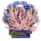 Artificial Light Pink Plastic Coral Plant Ornament Aquarium Decoration