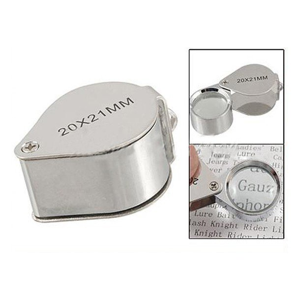 NEW 20x 21mm folding Jeweler's Magnifying Glass loupe