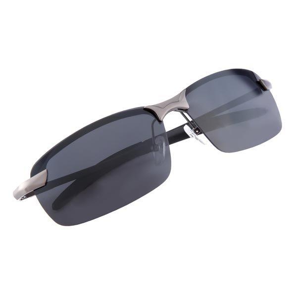 Mens Resin Polarized Metal Alloy Frame Black Gun Color Sunglasses