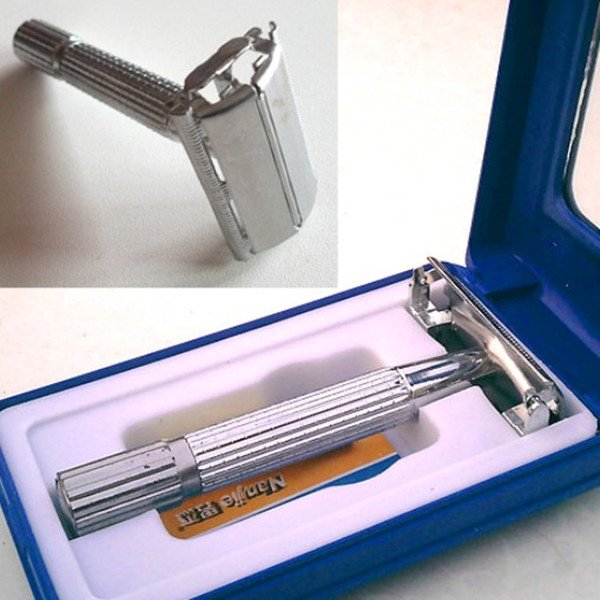Traditional Safety Double Edge Blade Shave Shaving Hair Razor Mirror
