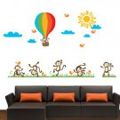 Monkey Balloon Wall Stickers Cartoon Wall Stickers House Decoration