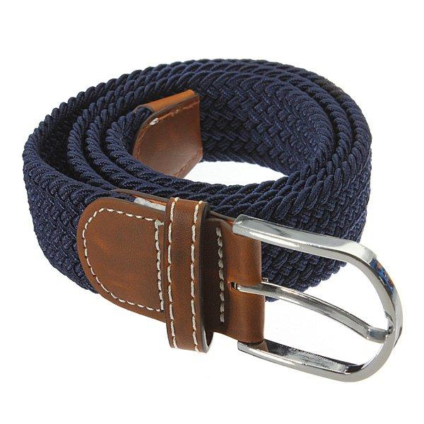 Unisex Men Stretch Braided Elastic Woven Leather Buckle Belt