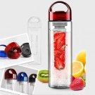 Fruit Infuser Water Bottle Sports Health Lemon Juice Bottle
