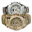Stainless Steel Band Rhinestone Luxury Women Wrist Watch
