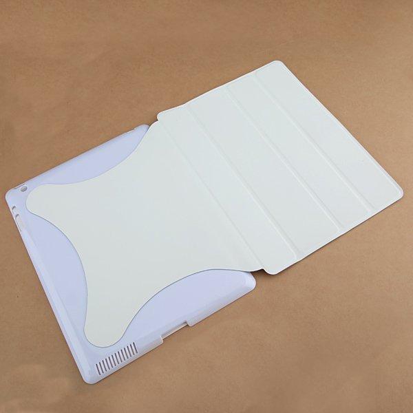 Smart Wake Sleep Slim Magnetic PU Leather Hard Case Stand For iPad 2