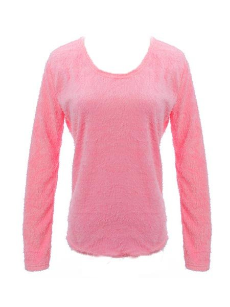 Long Fleece Sleeve Warm Comfortable Knitted Sweater Pullover