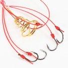 4pcs Fishing Hooks Power Bait Explosion Hooks Tackle With Box