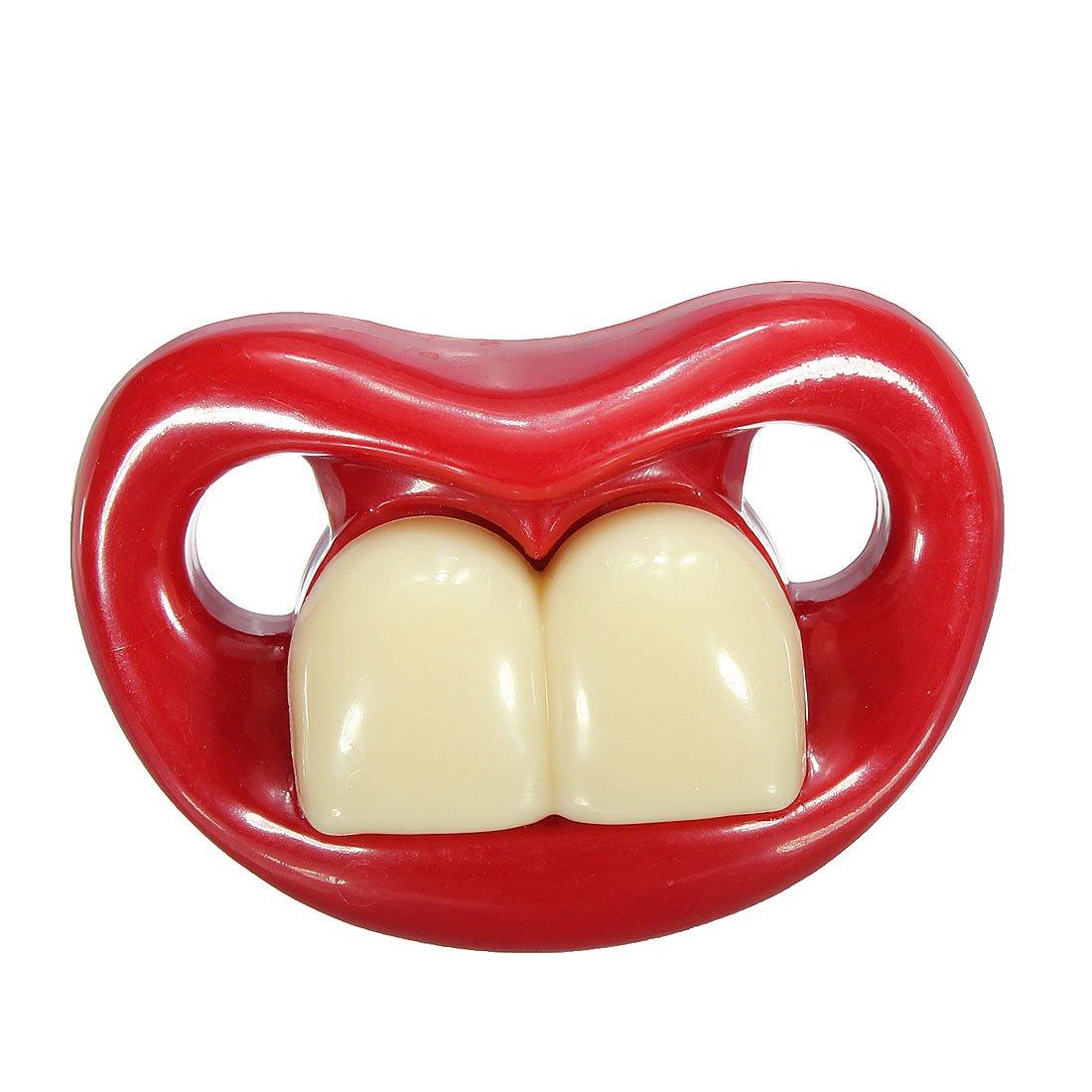 Cute Baby Funny Gagtooth Lip Pacifiers Dummy Teether Nipple