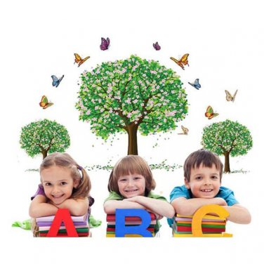 Happy Tree Removable PVC Wall Sticker Wallpaper 2190