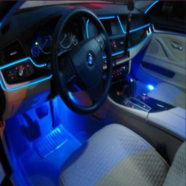 2M Flexible Car EL Wire Neon Light Dance Festival With Controller
