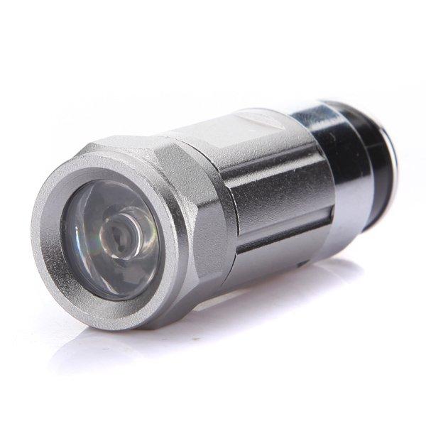 Mini Car Cigarette Lighter Socket LED Flashlight Rechargeable Torch 0.5W Silver